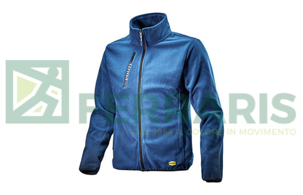DIADORA SWEAT PILE FULL ZIP BLU CLASSICO