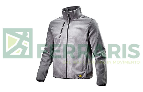 DIADORA SWEAT PILE FULL ZIP GRIGIO
