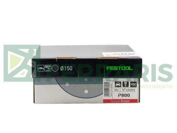 FESTOOL 496989 DISCHI ABRASIVI GRANAT P800 PEZZI 50