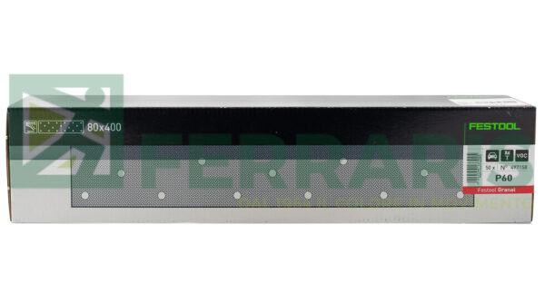 FESTOOL 497158 FOGLI ABRASIVI STF (80X400)mm P60 PEZZI 50