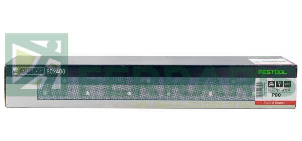 FESTOOL 497159 FOGLI ABRASIVI STF (80X400)mm P80 PEZZI 50