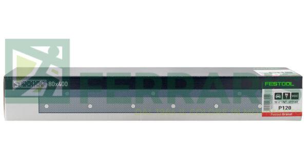 FESTOOL 497160 FOGLI ABRASIVI STF (80X400)mm P120 PEZZI 50