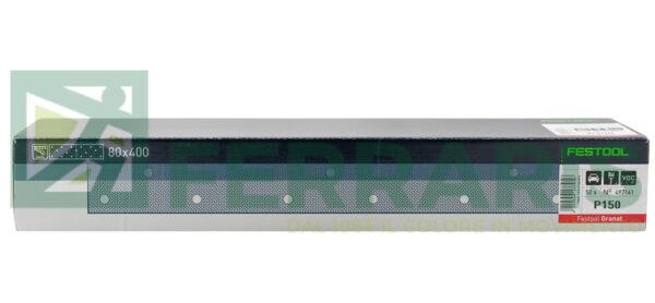 FESTOOL 497161 FOGLI ABRASIVI STF (80X400)mm P150 PEZZI 50