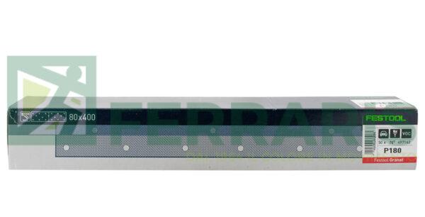 FESTOOL 497162 FOGLI ABRASIVI STF (80X400)mm P180 PEZZI 50