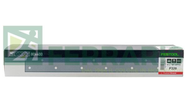 FESTOOL 497164 FOGLI ABRASIVI STF (80X400)mm P320 PEZZI 50