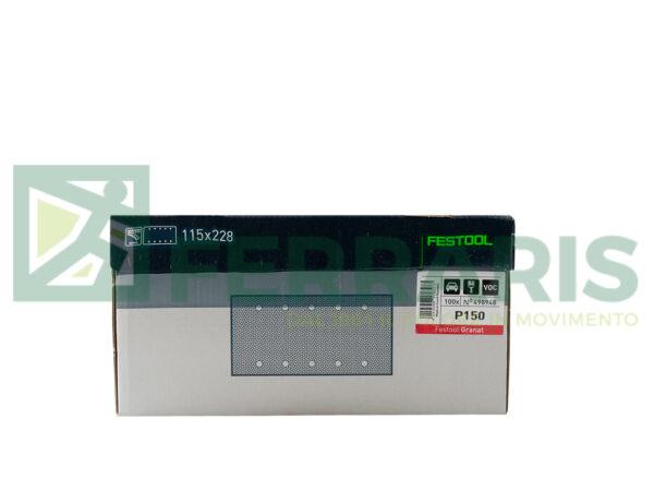 FESTOOL 498948 FOGLI ABRASIVI (115X228)mm P150 PEZZI 100