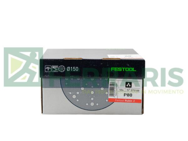 FESTOOL 575188 DISCHI ABRASIVI D150 P80 PEZZI 50