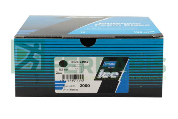 NORTON DISCHI ICE Q255 DIAMETRO 150 P2000 PEZZI 15