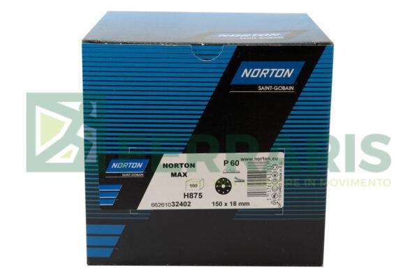 NORTON 32402 DISCHI NORZON H875 BLU P60 DIAMETRO 150 MM 9 FORI PEZZI 100