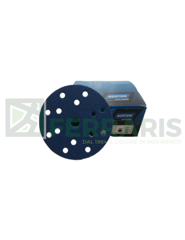 NORTON DISCHI VELCRATI BLUE FIRE H835 DIAMETRO 150 MM 15 FORI PEZZI 50