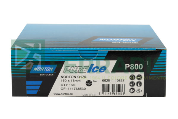 NORTON DISCHI PURE ICE NERI P800 PEZZI 50