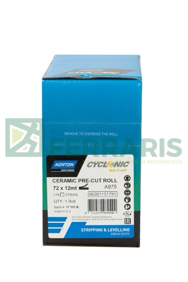 NORTON ROTOLO CYCLONIC A975 BLU 72 MM X 12 MT PEZZI 1