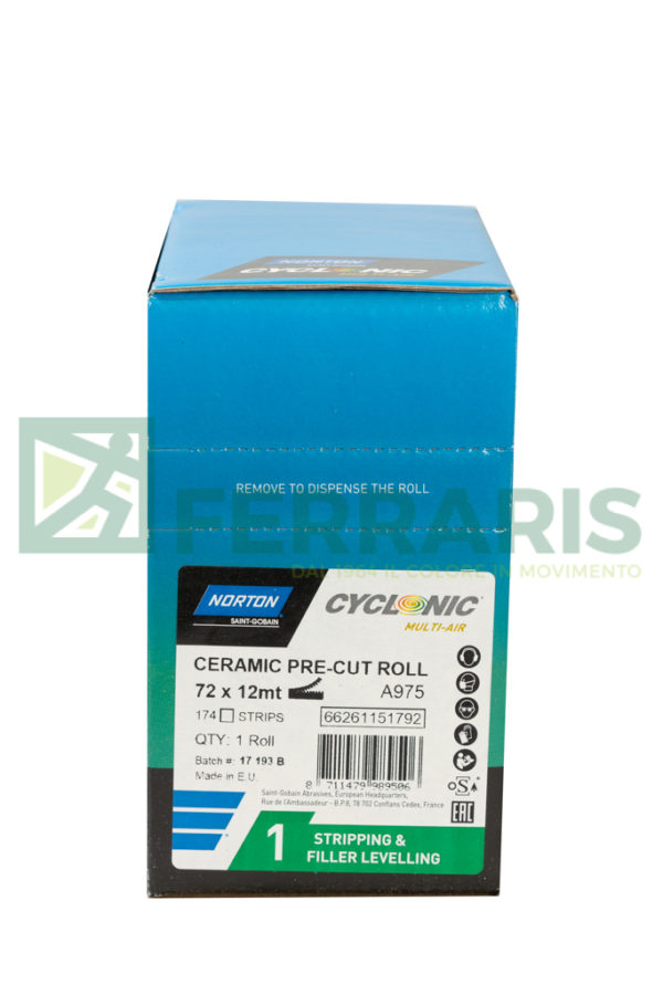 NORTON ROTOLO CYCLONIC A975 VERDE 72 MM X 12MT PEZZI 1