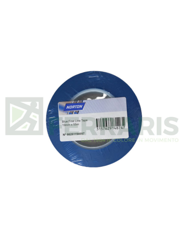 NORTON NASTRO FINE LINE TAPE BLU 19 MM X 55 MT PEZZI 1