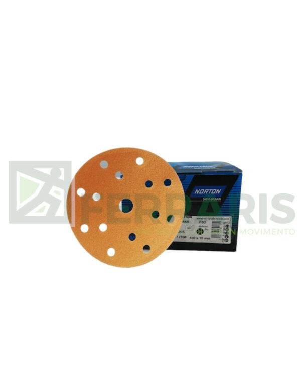 NORTON DISCHI ABRASIVI ADALOX A295 P80 PEZZI 100
