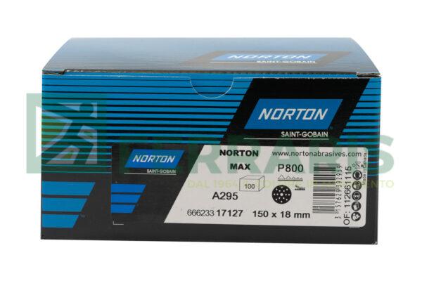 NORTON DISCHI ABRASIVI ADALOX A295 P800 PEZZI 100