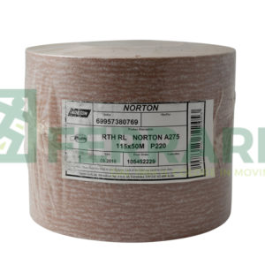 NORTON ROTOLO IN CARTA NORTON PRO A275 115 MM X 50 MT P220 PEZZI 1