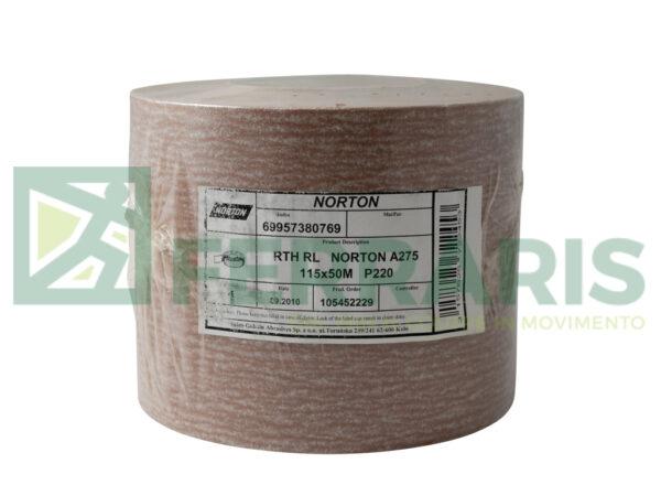 NORTON ROTOLO IN CARTA NORTON PRO A275 115 MM X 50 MT P220 PEZZI 1