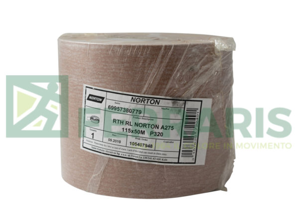 NORTON ROTOLO IN CARTA NORTON PRO A275 115 MM X 50 MT P320 PEZZI 1