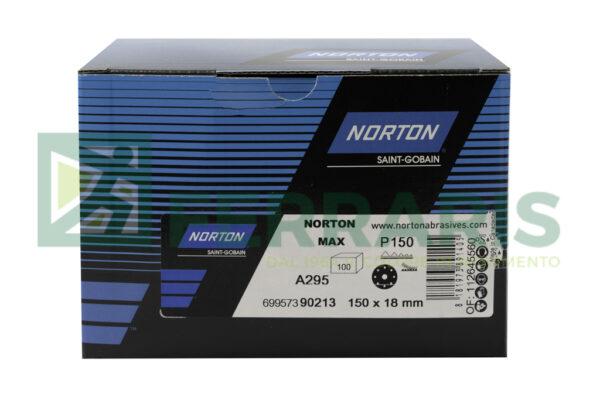 NORTON DISCHI ADALOX A295 DIAMETRO 150 MM P150 PEZZI 100