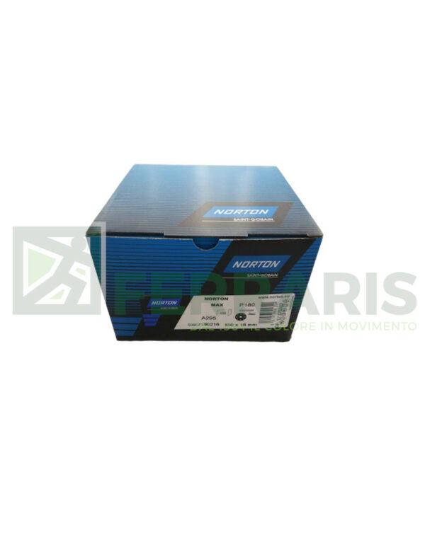 NORTON DISCHI ADALOX A295 DIAMETRO 150 MM P180 PEZZI 100