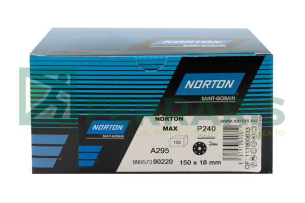 NORTON DISCHI ADALOX A295 DIAMETRO 150 MM P240 PEZZI 100