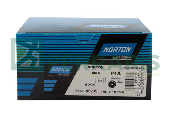 NORTON DISCHI ADALOX A295 DIAMETRO 150 MM  P400 PEZZI 100