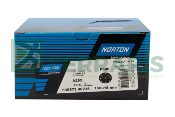 NORTON DISCHI ADALOX A295 DIAMETRO 150MM  P500 PEZZI 100