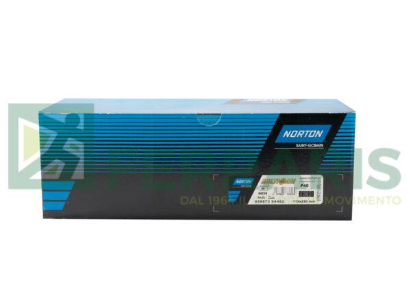NORTON STRISCE ABRASIVE NORZON 115 X 230 MM P40 PEZZI 50