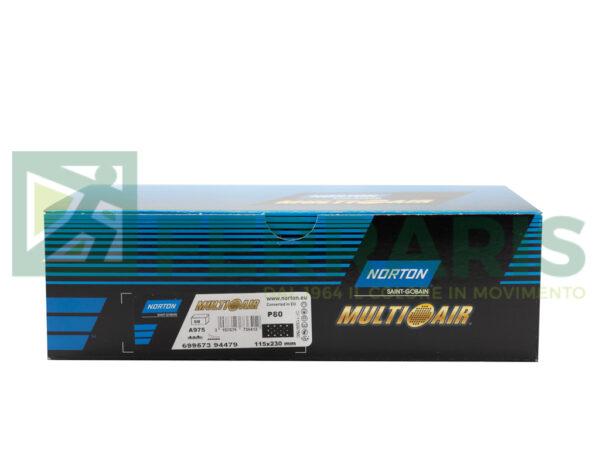 NORTON MEZZI FOGLI CERAMICATI MULTI AIR 115 X 230 MM P80 PEZZI 50