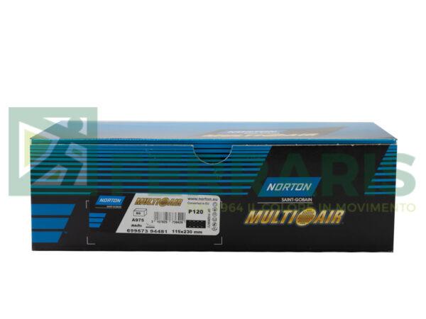 NORTON MEZZI FOGLI CERAMAMICATI MULTI AIR 115 X 230 MM P120 PEZZI 50