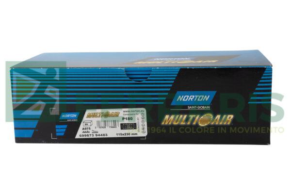 NORTON MEZZI FOGLI CERAMAMICATI MULTI AIR 115 X 230 MM P180 PEZZI 50