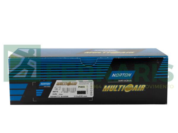 NORTON MEZZI FOGLI CERAMICATI MULTI AIR 115 X 230 MM P400 PEZZI 50