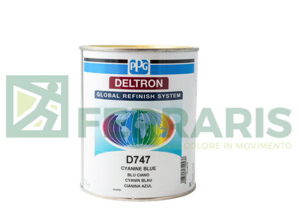 PPG D747 DELTRON BC CYANINEBLUE LITRI 1