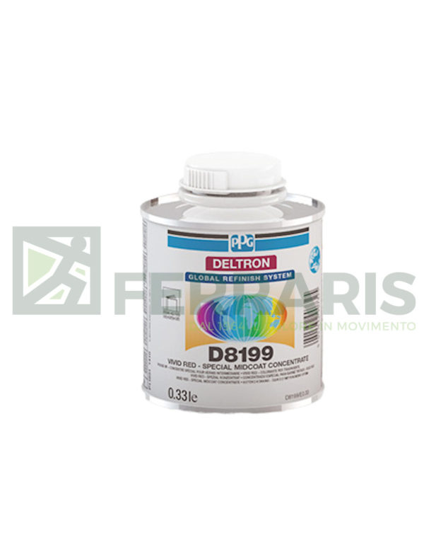 PPG D8199 VIVID RED COLORANTE PER TRASPARENTI ML 330