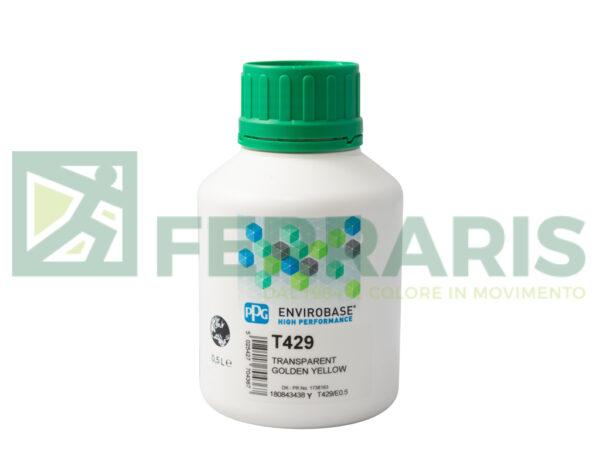 PPG T429 ENVIROBASE HP GIALLO TRASPARENTE LITRI 0,5