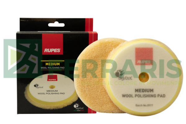 RUPES 9.BW150M TAMPONE LANA GIALLA MEDIUM 130/145 mm