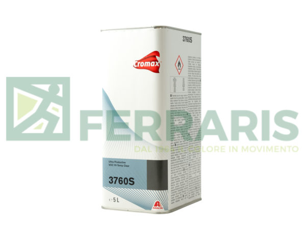 CROMAX S3760 TRASPARENTE ULTRA PRODUCTIVE VOC HI-TEMP LITRI 5
