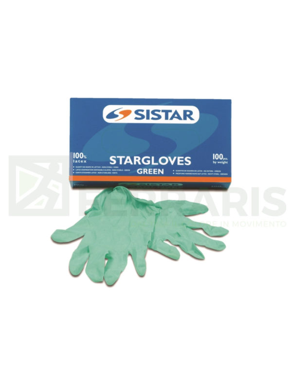 SISTAR 551.2965.L GUANTI STARGLOVES GREEN LISCIO LATTICE TAGLIA L