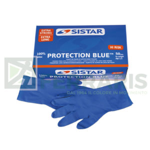 SISTAR 551.2970.10 GUANTI PROTECTION BLU MISURA 10 PEZZI 50