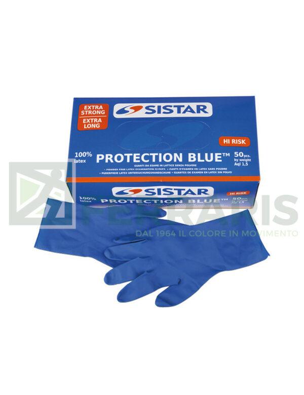 SISTAR 551.2970.8 GUANTI PROTECTION BLU MISURA 8 PEZZI 50