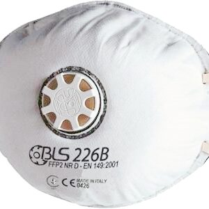 BLS 8006154 FACCIALE FILTRANTE MODELLO 226B CON CARBONI ATTIVI PEZZI 10