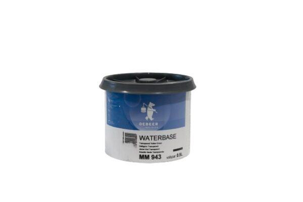 DEBEER WATERBASE MM 943 TRASPARENT YELLOW GREEN 0,5 lt