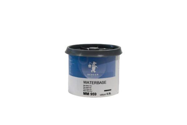 DEBEER WATERBASE MM 959 MICA WHITE FINE 0,5 lt