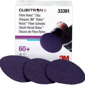 33391 3M CUBITRON Abrasivscheiben II Roloc GRIT 60+ Stücke 15