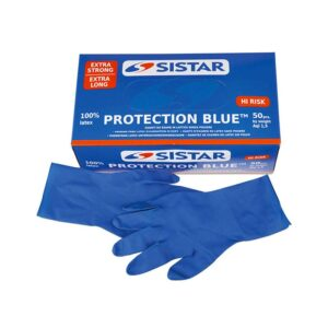 SISTAR 551.2970.8 GLOVES PROTECTION BLUE SIZE 8 50 PIECES