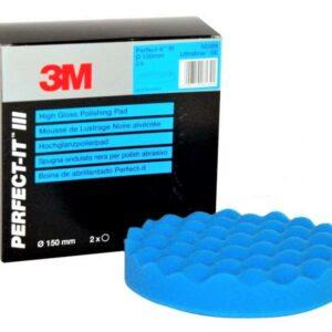 3M 50388 buffer en ESPONJA ondulado azul para POLACO 1 pieza