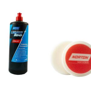 NORTON KIT LIQUID ICE EXTRA CUT 1 LT E TAMPONE 150 mm