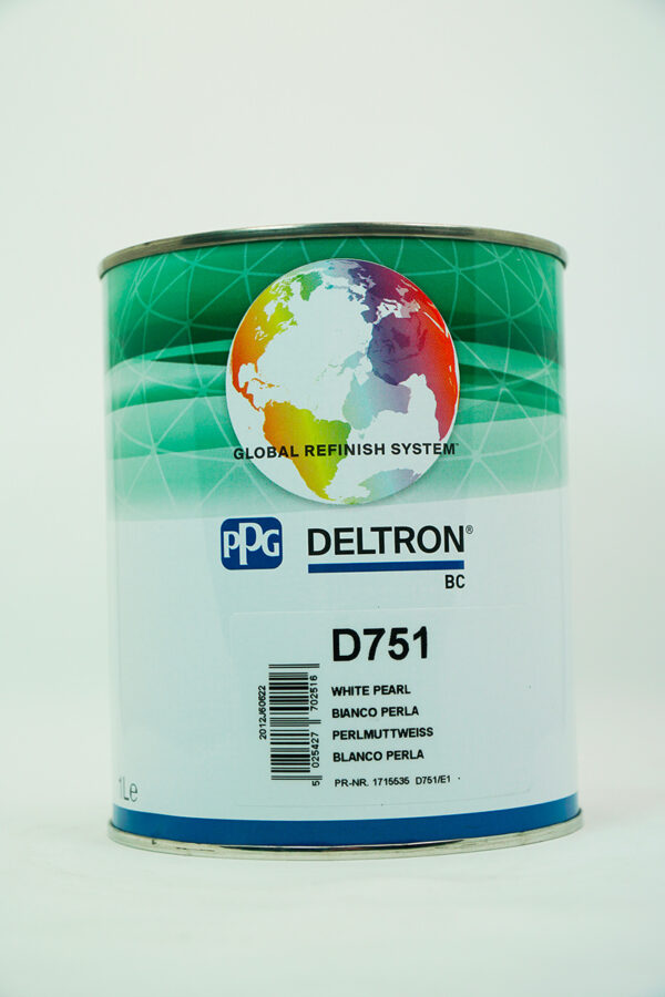 PPG D751 DELTRON BC WHITE PEARL LITRI 1