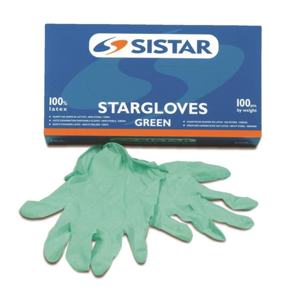 SISTAR 551.2965.L GUANTI STARGLOVES GREEN LISCIO LATTICE TAGLIA L